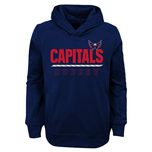 NHL by Outerstuff NHL Washington Capitals Youth Boys Lace'em Performance Hoodie, Navy, Youth X-Large(18)