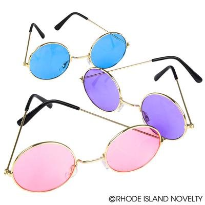 John Lennon Colored Sunglasses 1 Pair (colors vary)