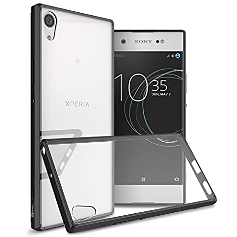 Sony Xperia XA1 Ultra Case, CoverON [ClearGuard Series] Hard Clear Back Cover with Flexible TPU Bumpers Slim Fit Phone Cover Case for Sony Xperia XA1 Ultra - Black / (Cell Phones Cases Sony Xperia)
