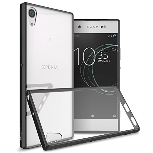 Sony Xperia XA1 Ultra Case, CoverON [ClearGuard Series] Hard Clear Back Cover with Flexible TPU Bumpers Slim Fit Phone Cover Case for Sony Xperia XA1 Ultra - Black / Clear