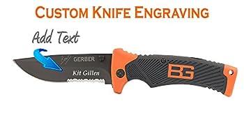 Custom Laser Engraved Gerber Bear Grylls Folding (Sheath) Knife