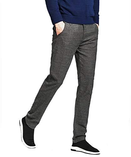 Otoño Chino De Grau Los Battercake Long Spring Business Ocio Cómodo Slim Pantalones Rectos Office Hombres Moda La Pierna wf1fqpH