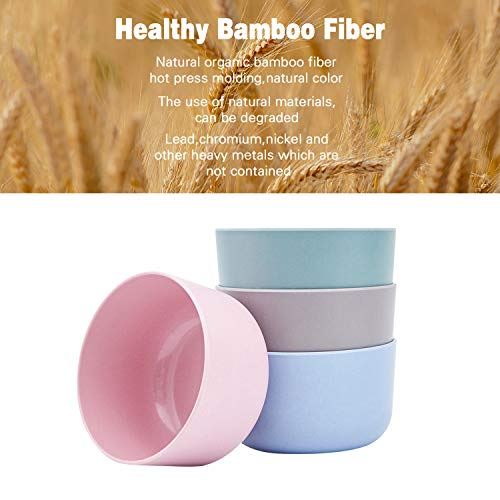 4pcs Bamboo Kids Bowls for Baby feeding?Small Serving Bowls?Small Prep Bowls& Dinnerware Sets, Eco-Friendly Tableware for Baby Toddler Kids,03