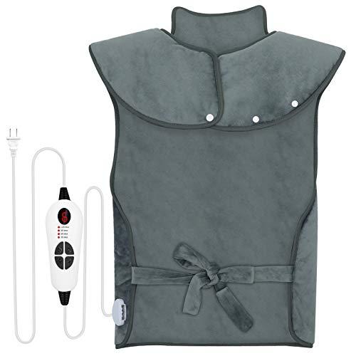 🥇 ESSEASON Manta Electrica Espalda y Cuello – Manta Eléctrica Lumbar(60cm x 80cm) con 6 Niveles de Temperatura y 4 Ajustes de Tiempo