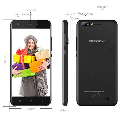 Blackview A7 Unlocked Cell Phone 3G 5MP+0 3MP Dual Rear Camera