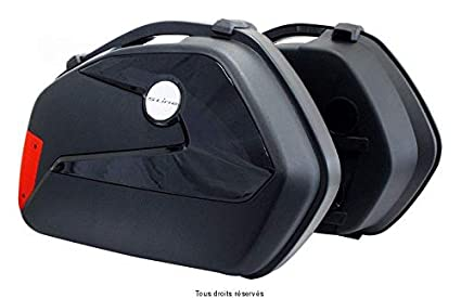 Par de maletas laterales KS2200 de 22 l para moto: Amazon.es ...
