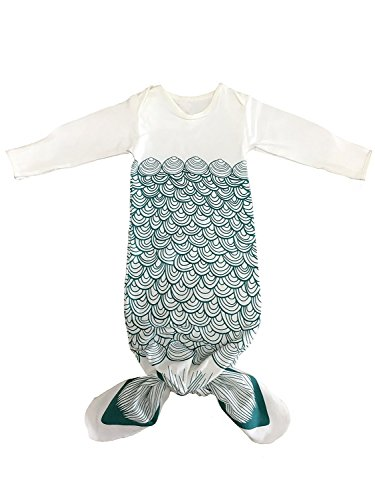 UPC 605749079197, Baby Long Sleeve Mermaid Tail Sleep Sack Wrap Sleeping Bag Wearable Blanket Blue S …