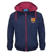 FC Barcelona Official Football Gift Boys Shower Jacket Windbreaker 10-11 Yrs LB