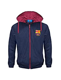FC Barcelona Official Football Gift Boys Shower Jacket Windbreaker 12-13 Yrs XLB