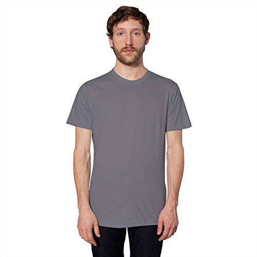 American Apparel Unisex Fine Jersey Short Sleeve T 2001 - Heather Grey - 2XL