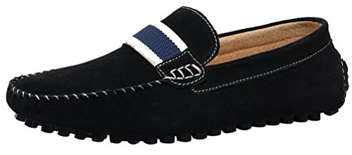 CFP 7599 Slip-on Mens Comfort Outstanding Casual Loafers Driver Lint Slippers Black UK Size 7 M3PZDQG