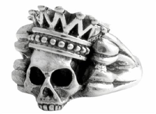 King Baby Studios Crowned Skull & Bones Ring K20-5023