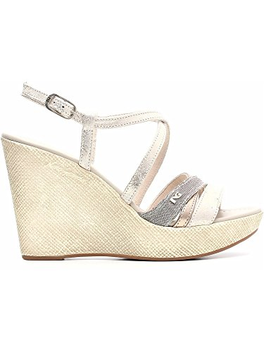 Nero Giardini - Sandalias de vestir para mujer Platino