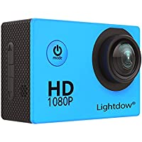 Lightdow LD4000 1080P HD Sports Action Camera Bundle with DSP:NT96650 Chip, 1.5-Inch LPS-TFT LCD, 170° Wide Angle Lens and Bonus Battery (Blue)