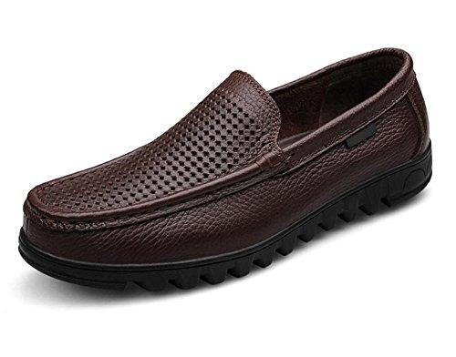 De Hombre Diarias Zapatos Primera Transpirable Hueco 1 Casual Capa Cuero Comerciales qB5wwOx
