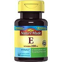 Nature Made Vitamin E 200IU Softgels, 100 Count