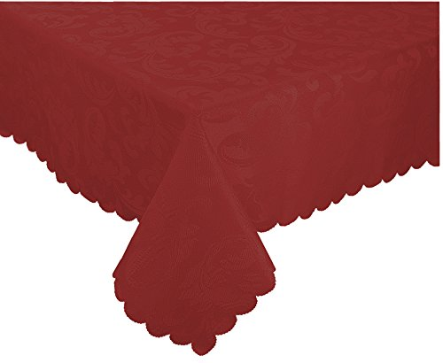 EcoSol Designs Microfiber Damask Tablecloth, Wrinkle-Free & Stain Resistant (52x70