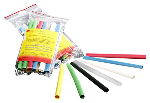 Raychem Shrink Tubing - 3M(TM) Heat Shrink Tubing Assortment Pack FP-301-3/8-Assort: 6 in length pieces, 2 each of 7 colors, (Pack of 14)