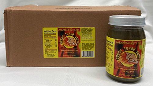 Conch Turbo Sauce Jalapeno Key Lime Case of 12/ 16 oz pints bottles