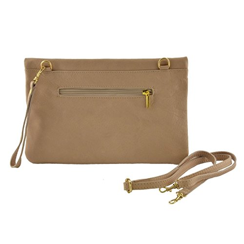 Pochette In Pelle Colore Arancione - Pelletteria Toscana Made In Italy - Borsa Donna