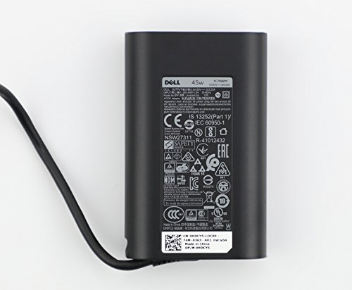 Genuine Dell 45W USB-C AC Adapter for Dell P/N: 689C4, 492-BBUU, LA45NM150, HDCY5, 0HDCY5, DA30NM150, 8XTW5, 08XTW5, ADP-30CD BA, 24YNH, 492-BBSP, 5FX88, 470-ABSF. (Best Price For Dell Xps 13 Laptop)
