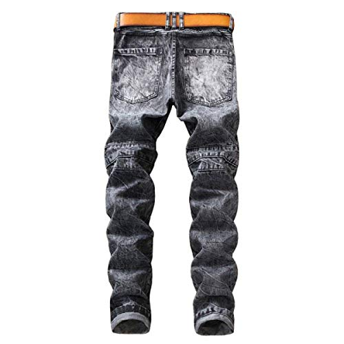 Pantaloni Huixin 1 Stretch Midi Cinturino Uomo Dritti Senza Regular Slim Fit Da Di Skinny Jeans Zq1r6ZP