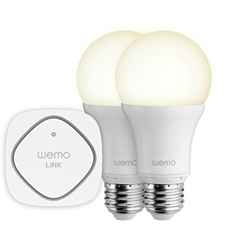 Belkin WeMo Smart LED Light Bulb, Wi-Fi Enabled 9.5 Watts Starter Set (Renewed)