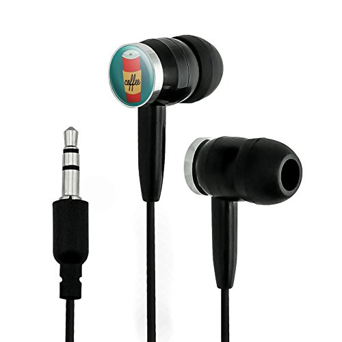 Coffee Disposable Red Teal Novelty In-Ear Earbud H...