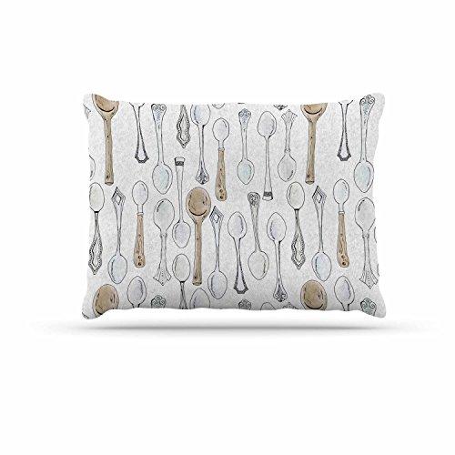 KESS InHouse Stephanie Vaeth ''Spoons'' White Gray Dog Bed, 30'' x 40'' by Kess InHouse