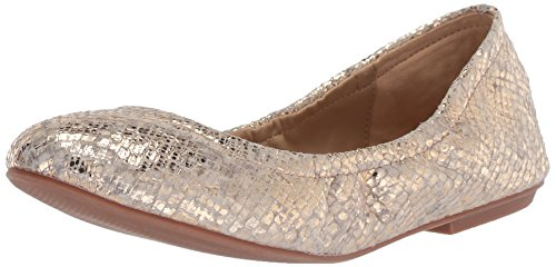 (The Fix Women's Sonya Scrunch Metallic Ballet Flat, Gold/Metallic Snake Embossed Leather, 6.5 B US)
