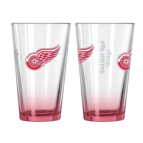 (NHL Red Wings - Elite Pint Glasses (2)   Detroit Red Wings 16 oz. Beer Pints - Set of 2)