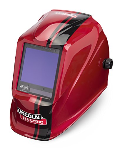 Lincoln Electric VIKING 3350 Code Red Welding Helmet with 4C Lens Technology - K4034-3 (Best Rated Auto Darkening Welding Helmets)