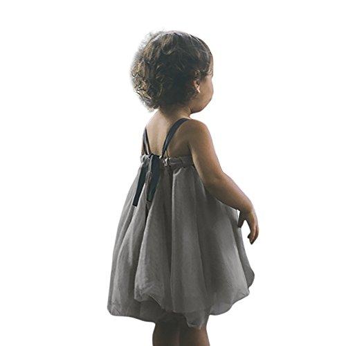 Little Girls Sleeveless Floral Princess Dress Tulle Tutu Sundress Gray by Karoleda_Baby Girls Clothes (Image #1)
