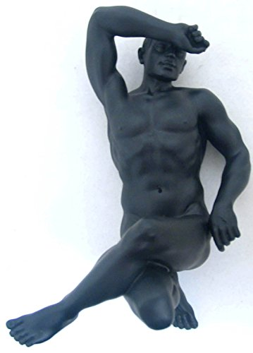 7.25 Inch Figure Male Nude on His Back Legs Crossed Display Decor