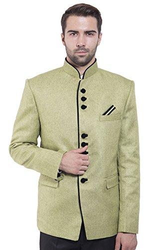 Bandhgala En Pour Homme Vert Nehru Festif Vingt Blazer Wintage Rayon Coton Mandarin Et Couleurs Tqnzw4Z