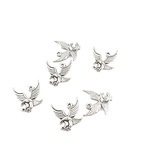 Price per 140 Pieces Jewelry Making Charms 09509 Eagle Hawk Pendant Ancient Silver Findings Accessoires Craft