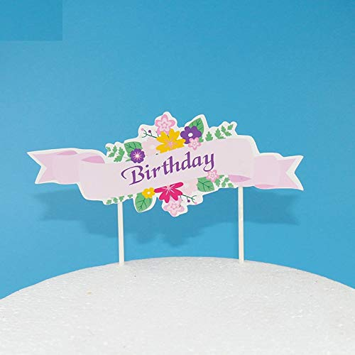 Cake Decorating Supplies - 5pcs Pack Happy Birthday Mini Cute Cake Per Personalized Flag Cupcake Decoration Baby Party - Turner Star Mouse Prime Best By Kids Butter Pc Fondant]()