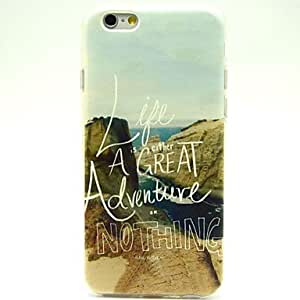 ZXSPACE Coast Pattern TPU Soft Case for iPhone 6
