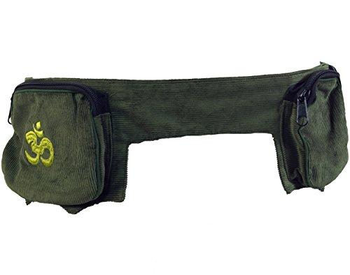 Guru-Shop Sidebag, Goa Gürteltasche, Herren/Damen, Grün, Baumwolle, Size:One Size, 15x120x7 cm, Festival- Bauchtasche Hippie