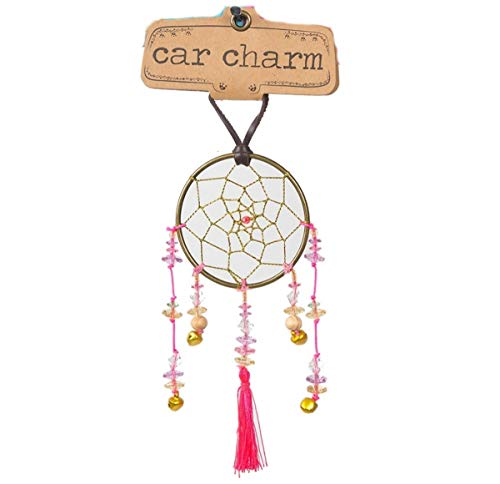 Wholesale Inspirational Plaques (Natural Life Pink Dream Catcher Rearview Mirror Car Charm)