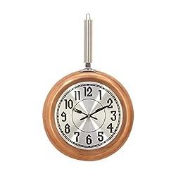 Deco 79 98436 Frying Pan Iron Wall Clock, Copper/Silver/Black