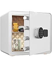 Fireproof Safe,Small Safe,Digital Keyboard Safe,Safe with Keyboard Lock and Key,Sturdy and Stable,Suitable for Storage of Cash,Jewelry,Important Documents Cabinets,Home/Office General.