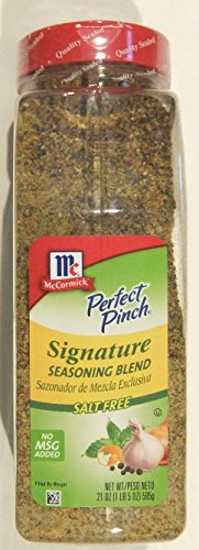 McCormick Perfect Pinch Signature Seasoning Blend, Salt Free (21 ounce shaker)