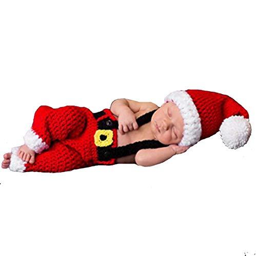 Bonaweite Christmas Newborn Infant Baby Boy Girl Photography Prop Costume Cute Cap Pants
