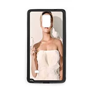 Samsung Galaxy Note 4 Cell Phone Case Black Hayden Panettiere In White Dress SUX_018742