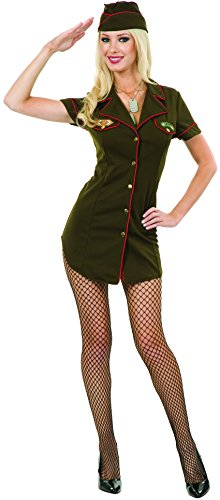 Charades Costumes Women's Army Babe Adult Costume Small Green