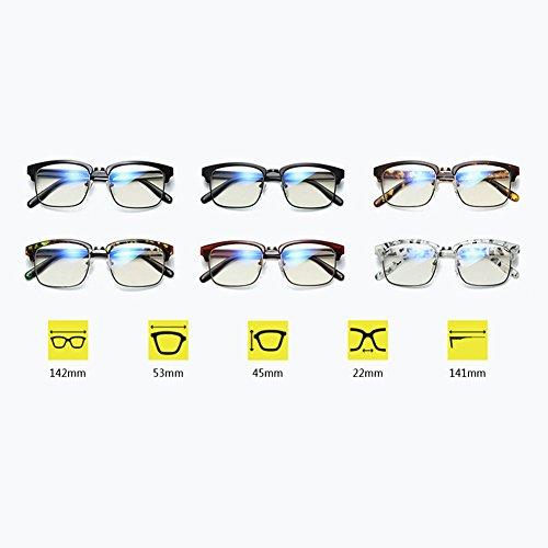 demi design verres de lunettes anti bleu minimaliste Matériau Inlefen intensité Mode optiques trame souple sans Amber de CqxOtHHAw5