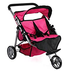 Your little princess also wants a twin stroller this stroller is designed for 1-4 YR old. It is truly top quality & light weight. Comes with spacial safety features so your little one will not hurt her fingers when folding the stroller. W...