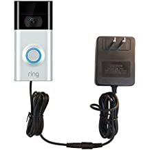 OhmKat Video Doorbell Power Supply - Compatible with Ring Video Doorbell 2 - Needs No Existing Wiring - Battery Charger, Transformer, Adapter, Power Kit & Supply All In One - Assembled in USA