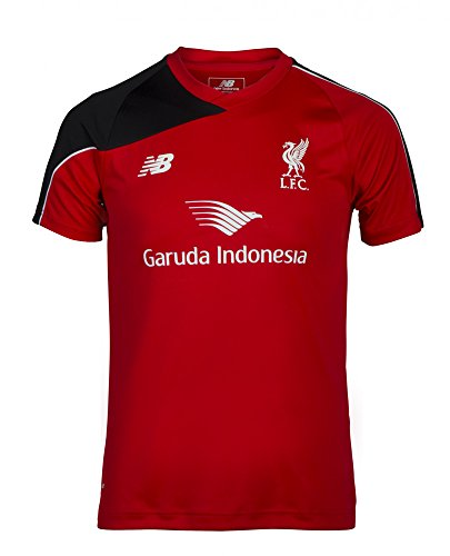 New Balance Men's Liverpool Soccer Training Jersey 2015/2016 (Red, Balck) (Premier League Soccer Jerseys)